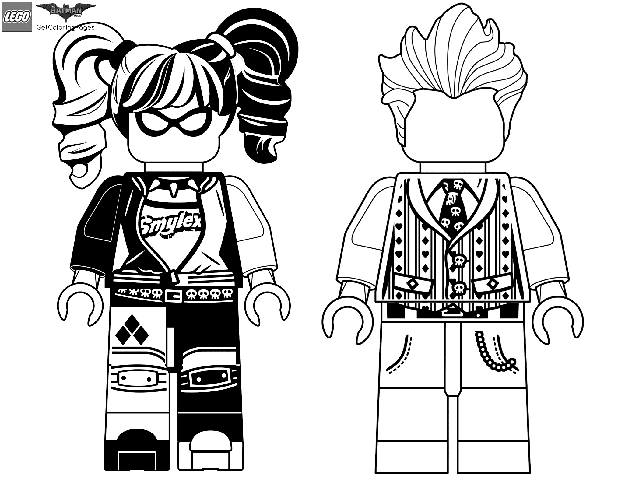 2030x1600 Harley Quinn And Joker Coloring Pages Lego Batman Movie