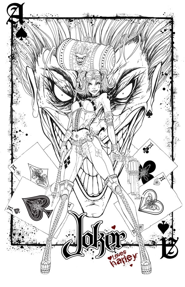 600x932 Joker And Harley Quinn Coloring Pages Magnificent Harley Quinn