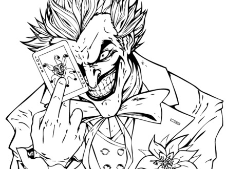 440x330 Coloring Pages Joker, Harley Quinn Coloring Pages Best Coloring