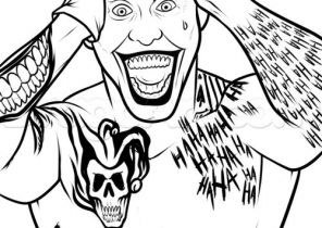 296x210 Joker Coloring Pages