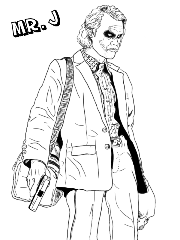 Joker Coloring Pages At Getdrawings Com Free For Personal Use