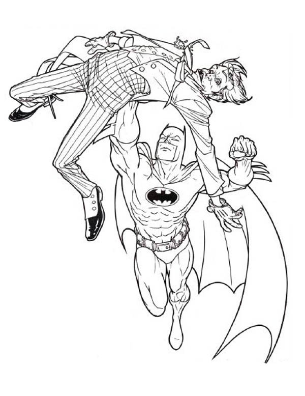 600x778 Batman Joker Coloring Pages