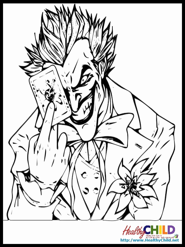 609x813 Batman Joker Coloring Pages Collection Joker Coloring Pages