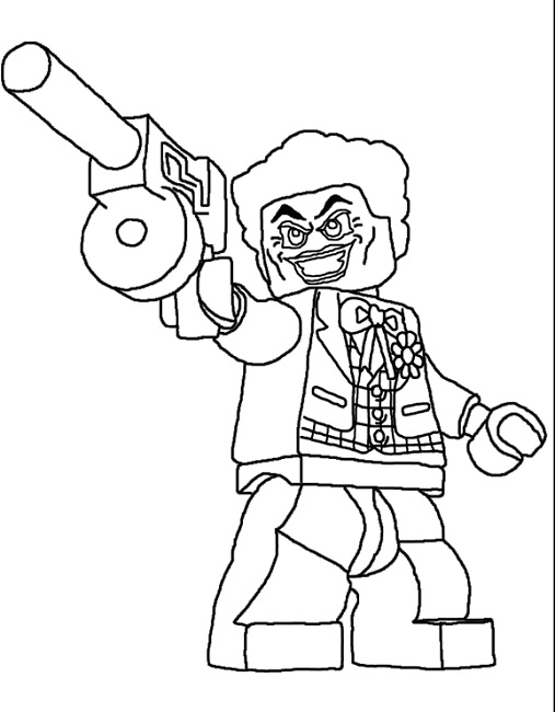 507x650 Lego Joker Coloring Pages
