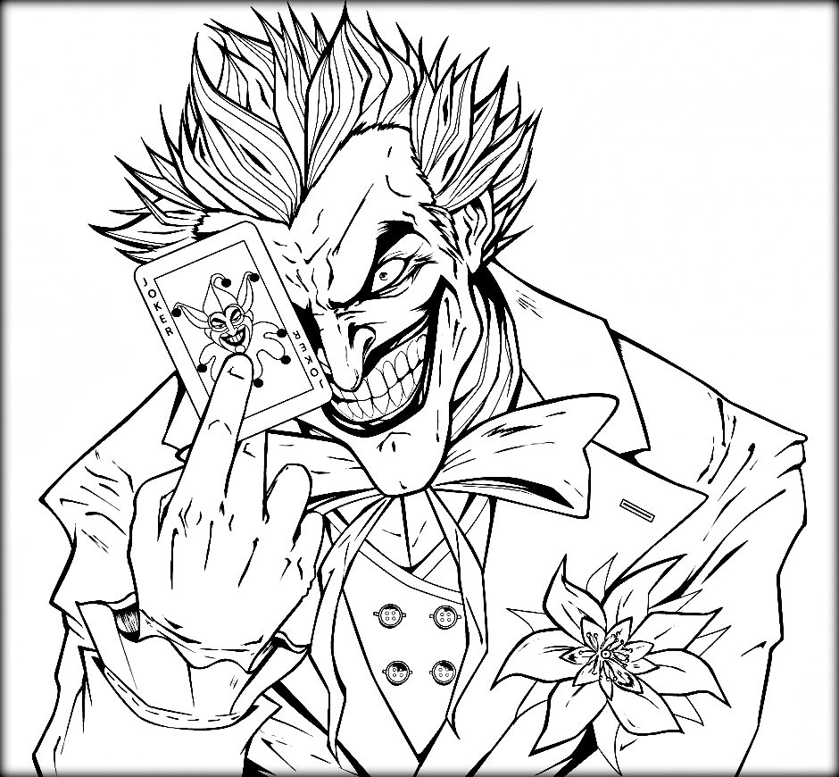 940x870 Pages Able For Sweet The Joker Coloring S Preschool In Humorous