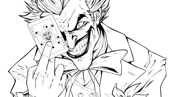 585x329 The Joker Coloring Pages Coloring Book Joker Coloring Pages
