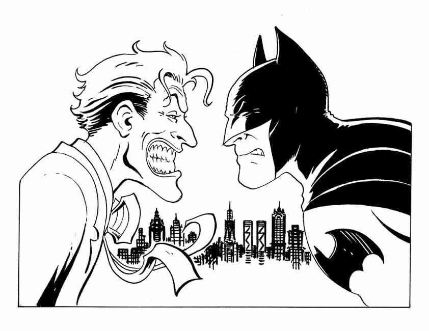 842x650 Batman Joker Colouring Pages