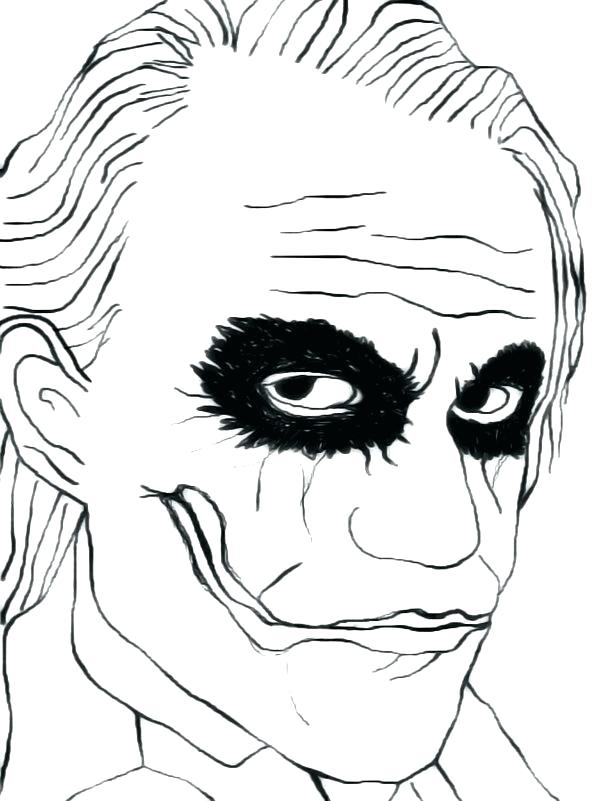 600x801 Joker Coloring Pages