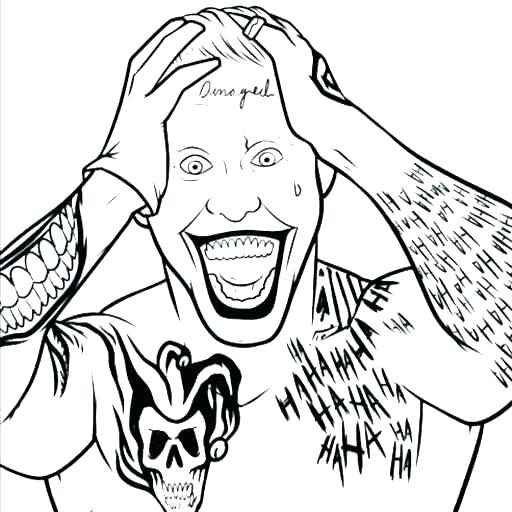 512x512 Joker Coloring Pages