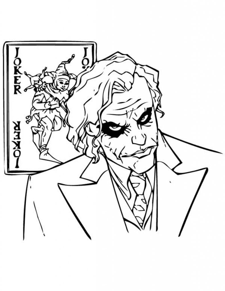 Joker Coloring Pages Printable At Getdrawings Com Free For