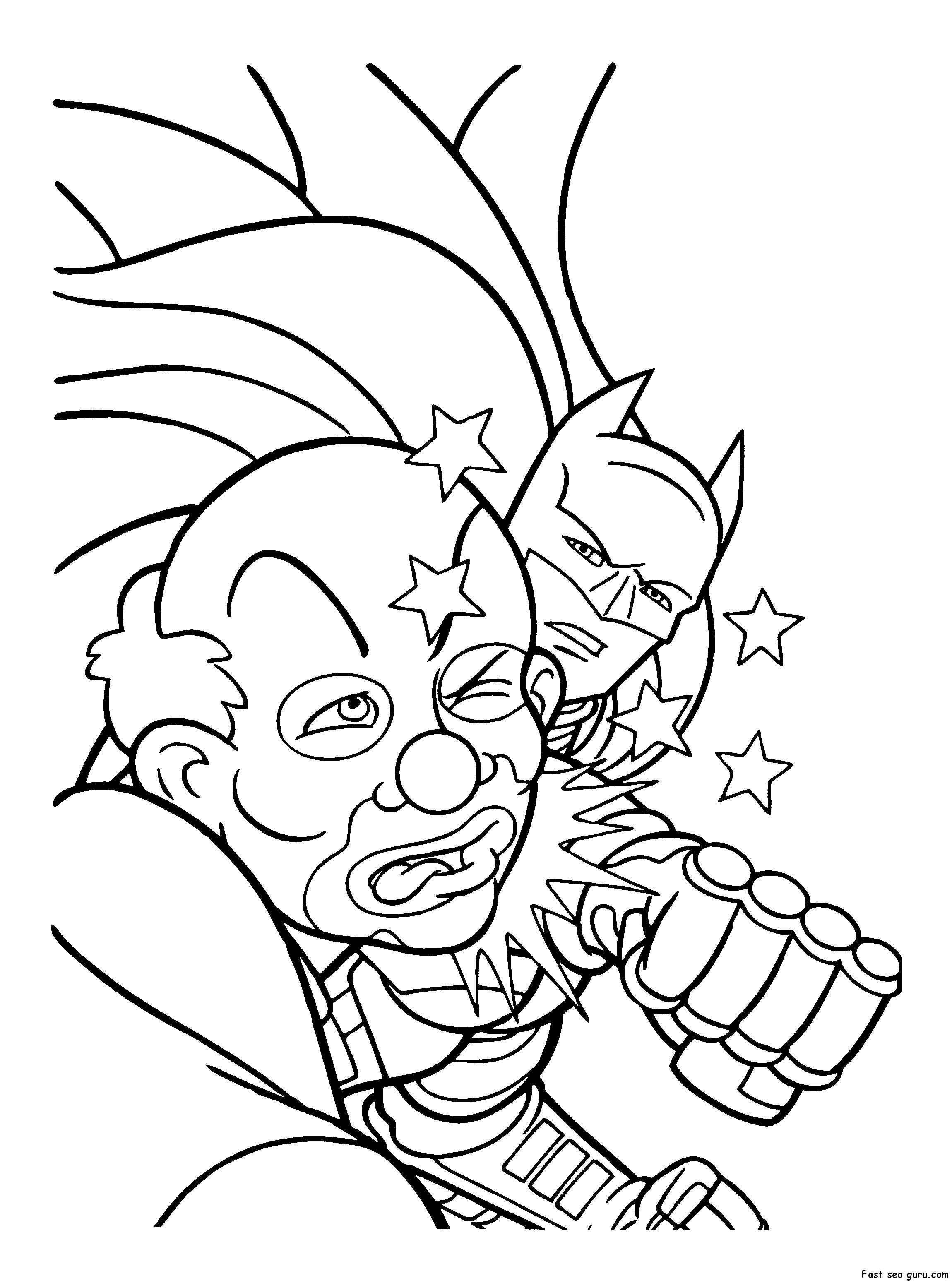 2300x3100 Joker Coloring Pages Printable