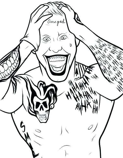 500x642 Joker Coloring Pages The Joker Coloring Pages And Joker Coloring