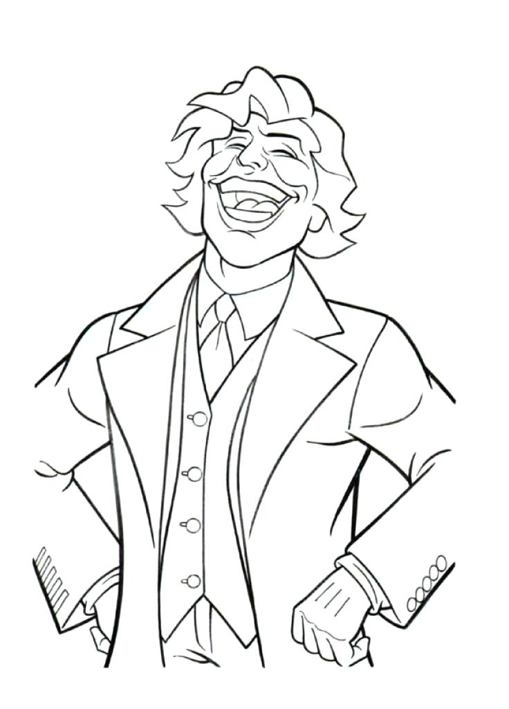 736x1024 The Joker Coloring Pages Joker Coloring Pages Printable Joker