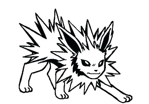 Jolteon Coloring Pages At Getdrawings Com Free For Personal Use