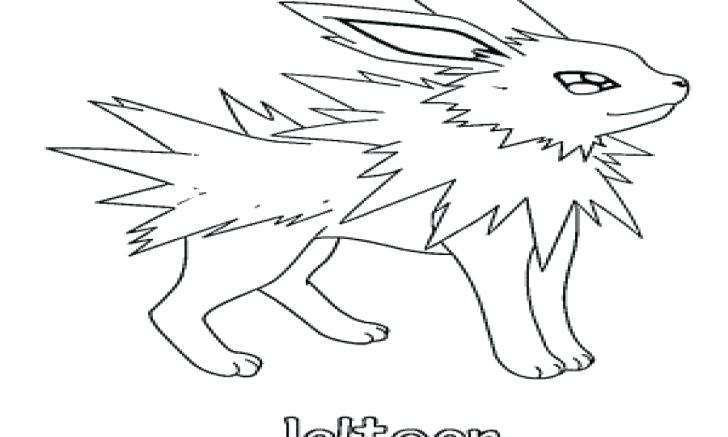 728x437 Jolteon Coloring Pages Coloring Pages Pokemon Jolteon Coloring