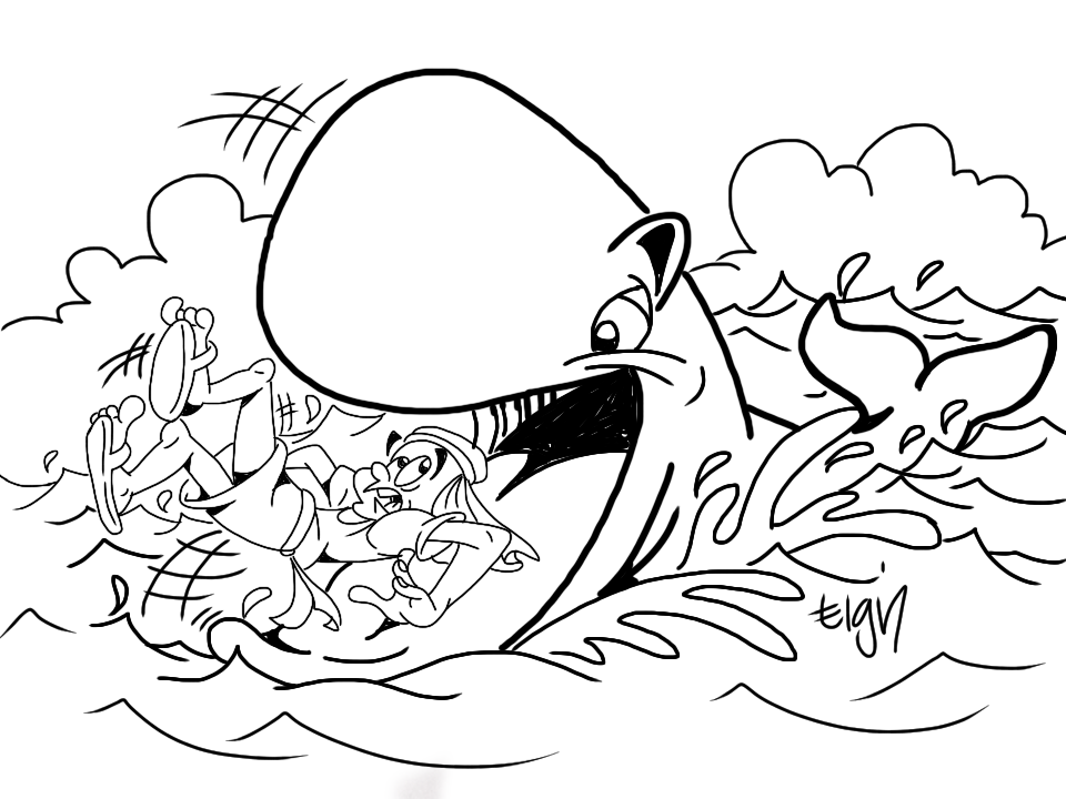 Jonah And The Whale Coloring Page At Getdrawings Free Download