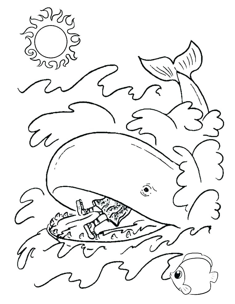 763x985 Jonah Coloring Page And The Whale Kids Coloring Pages Jonah Bible
