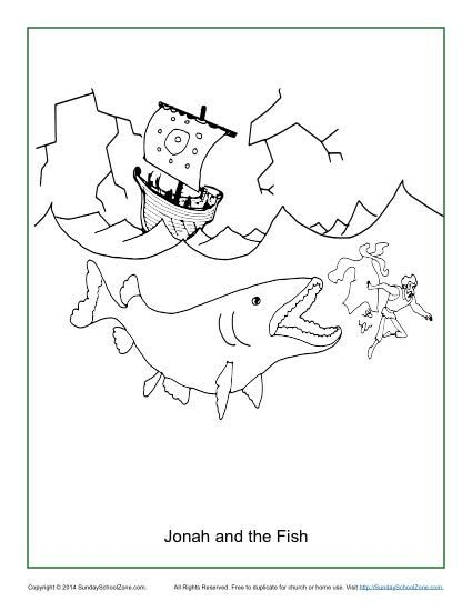 425x550 Jonah And The Fish Coloring Page Sunday School, Bible Activities