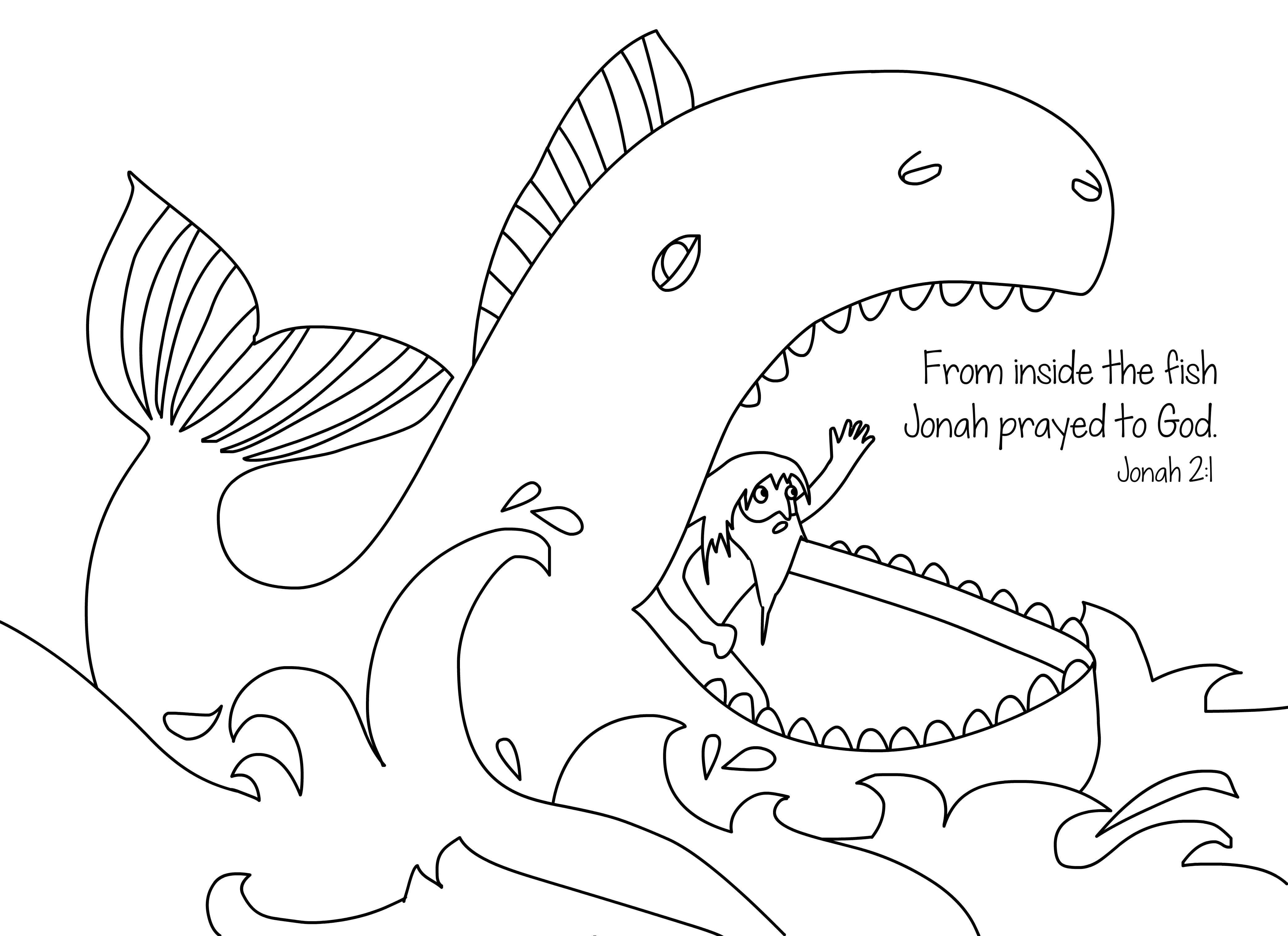 4167x3028 Jonah And The Whale Free Bible Coloring Page From Cullen's Abc
