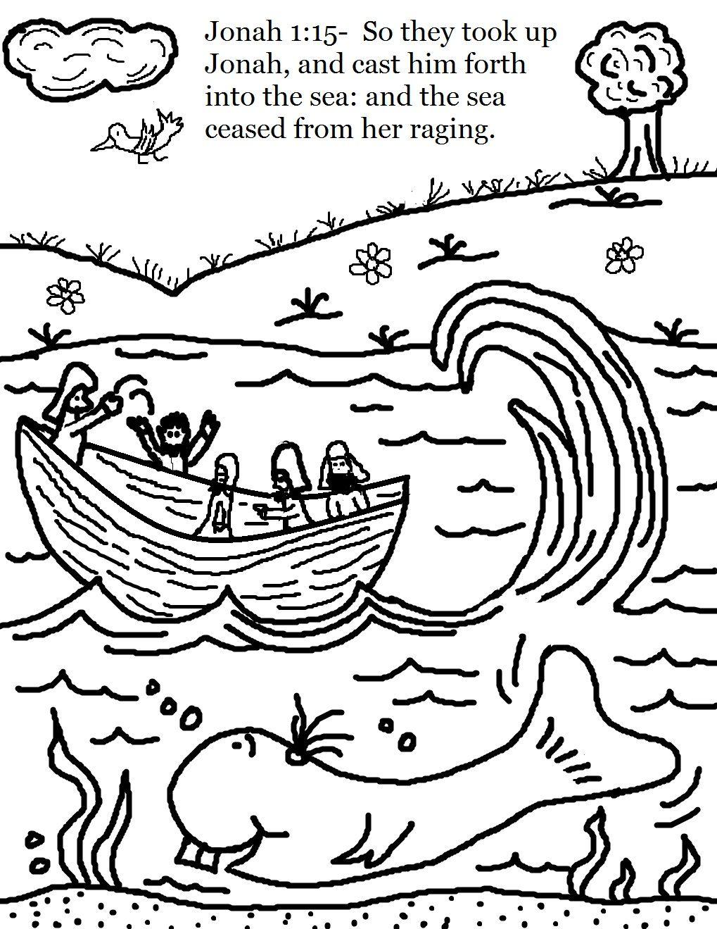 1019x1319 Marvelous Coloring Page Jonah Bible For Children Preschool Praying
