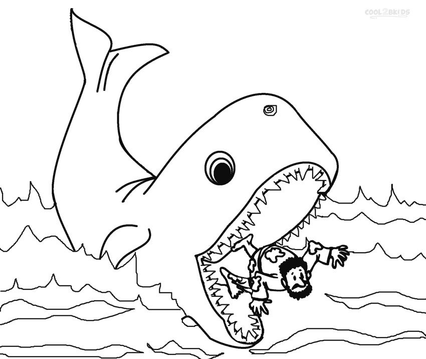 850x716 Printable Jonah And The Whale Coloring Pages For Kids