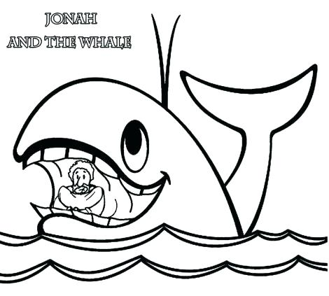 470x423 Jonah And The Whale Coloring Pages