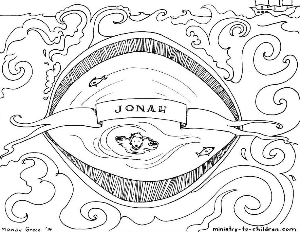 1024x794 Glamorous Books Of The Bible Coloring Pages Jonah And Whale