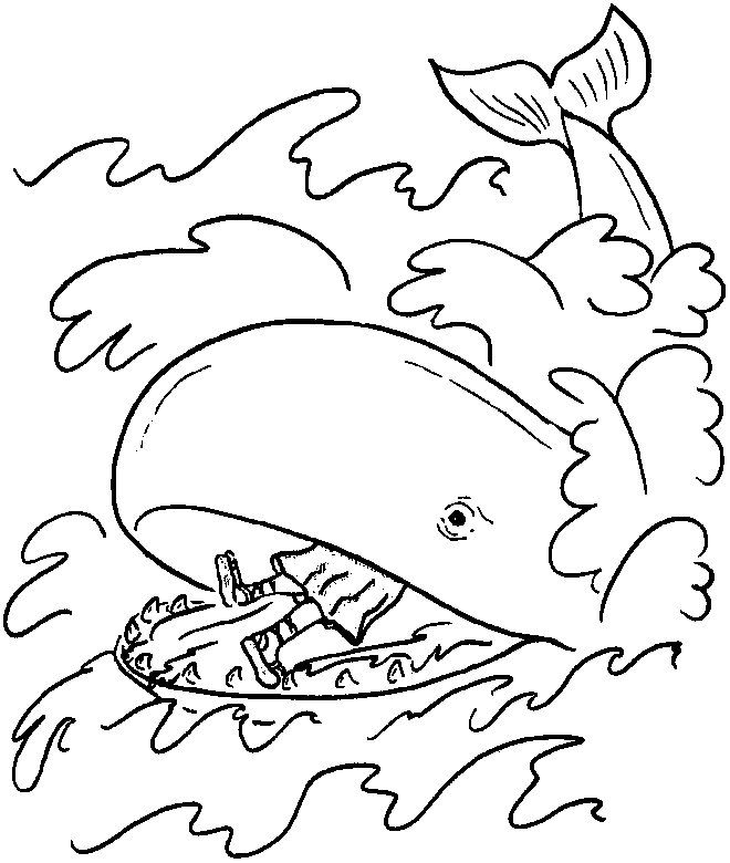 660x780 Jonah And The Whale Coloring Page