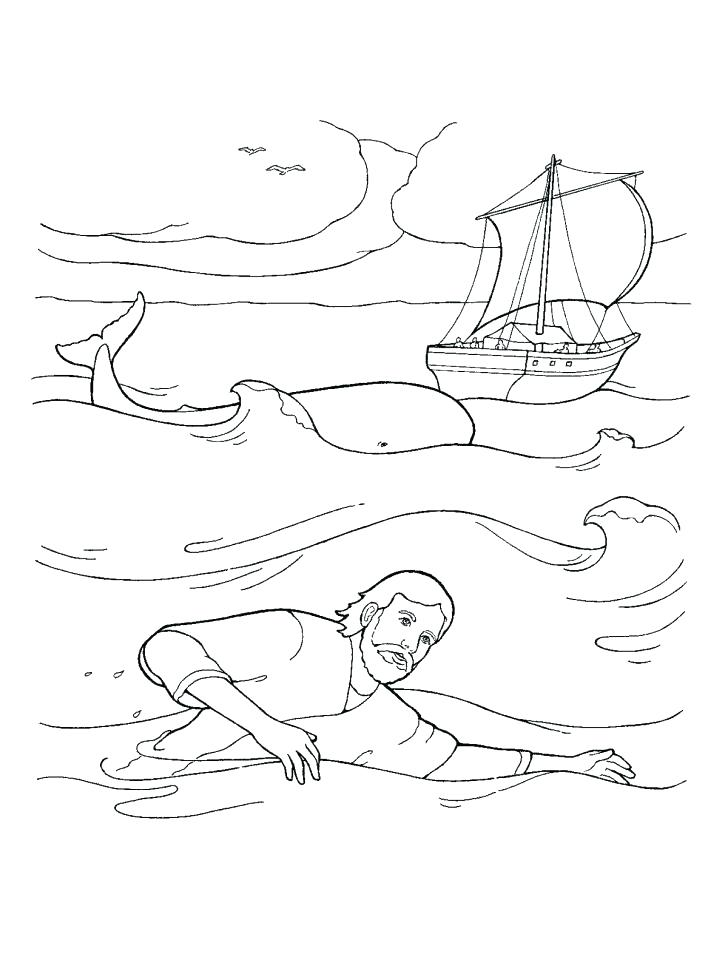 728x971 Jonah And The Whale Coloring Page As Well As And The Whale
