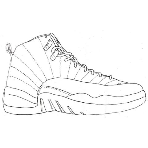 Jordan 12 Coloring Pages