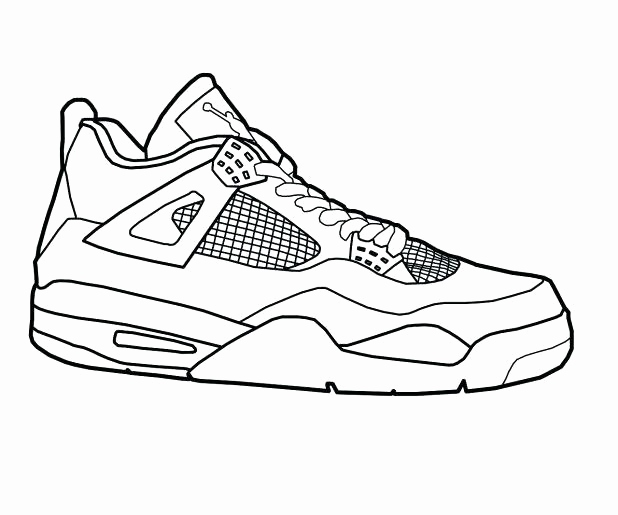 618x515 Jordan Coloring Pages Collection Jordan Coloring Sheets Shoe