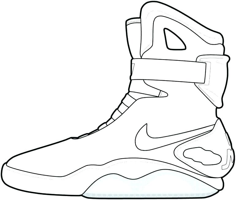 770x655 Jordan Coloring Page Coloring Sheets Coloring Page Pin Drawn Shoe