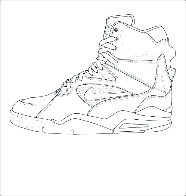 618x652 Air Jordan Coloring Pages