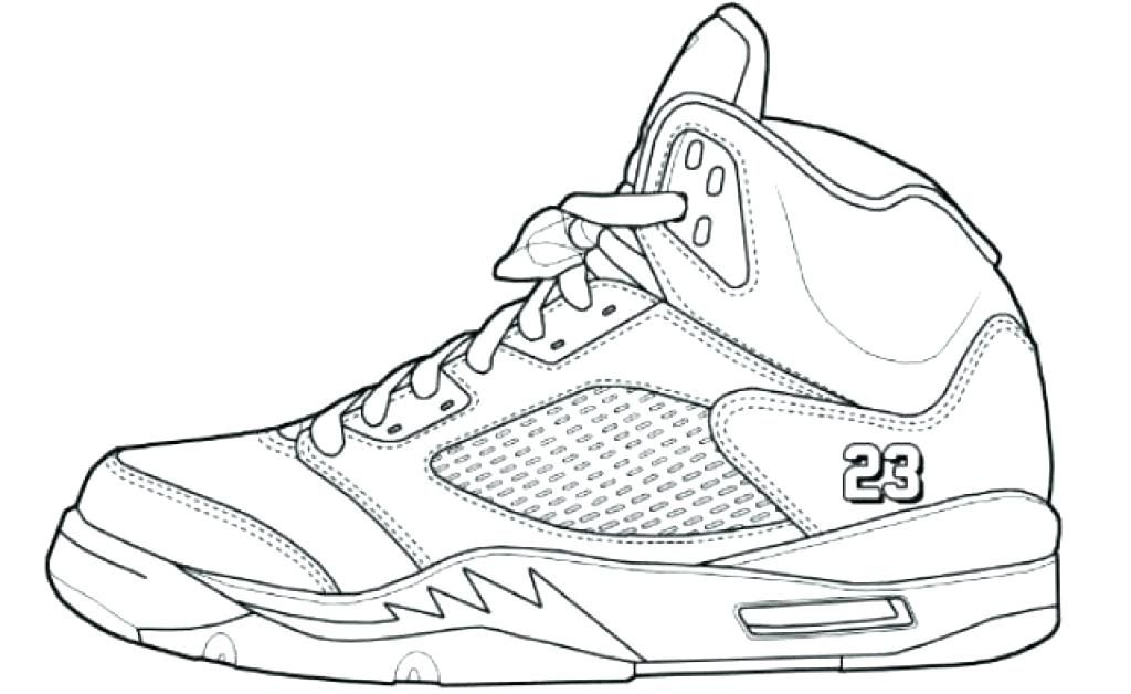 1024x628 Nike Jordan Coloring Pages Air Jordan Coloring Sheet