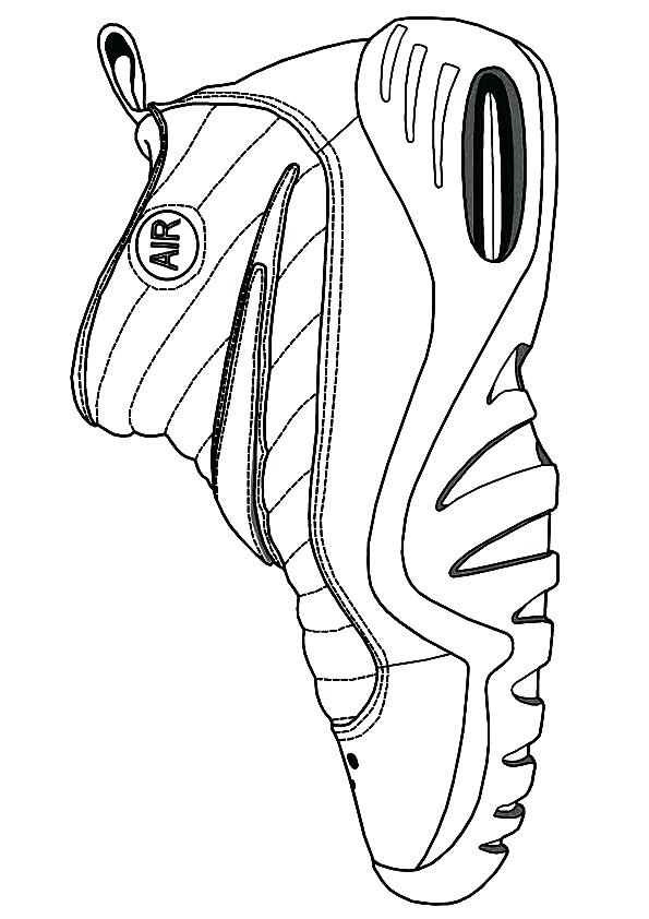 595x842 Jordan Shoe Coloring Pages Coloring Pages Air Shoe A Michael