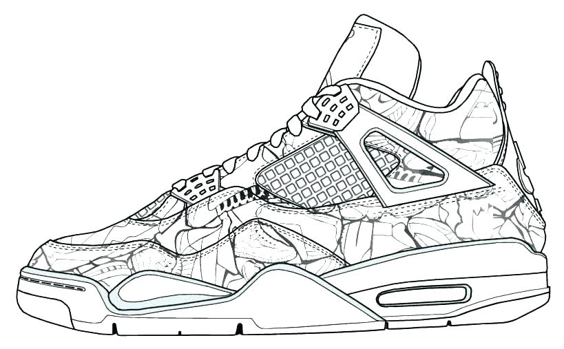 819x507 Jordan Shoes Coloring Pages Coloring Page Coloring Pages Together