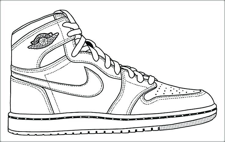 736x466 Michael Jordan Coloring Page Drawn Basketball Shoe Michael Jordan