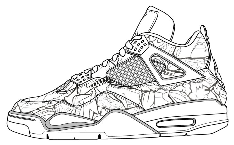 Jordan Shoes Coloring Pages At GetDrawings Free Download