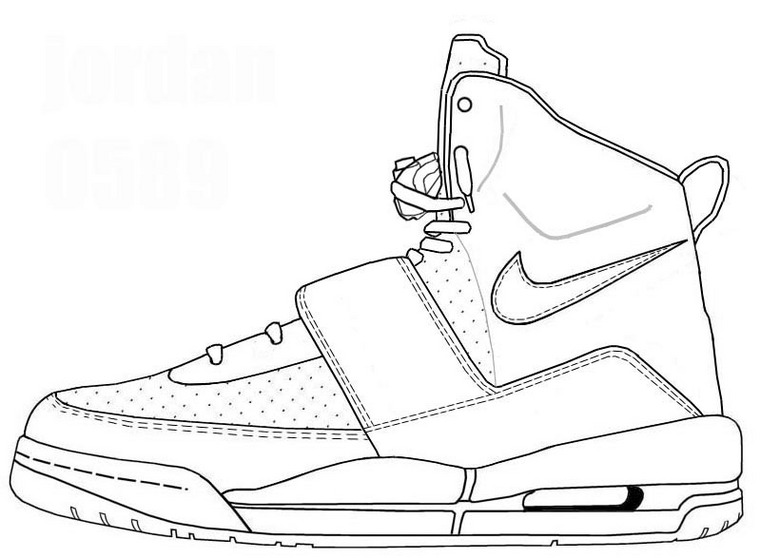 Jordan Shoes Coloring Pages at GetDrawings | Free download