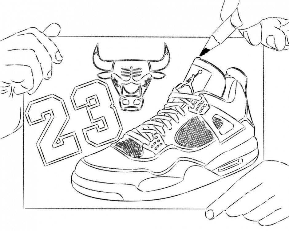 940x752 Air Jordan Shoes Coloring Pages Jordan Shoe Coloring Sheet Triston