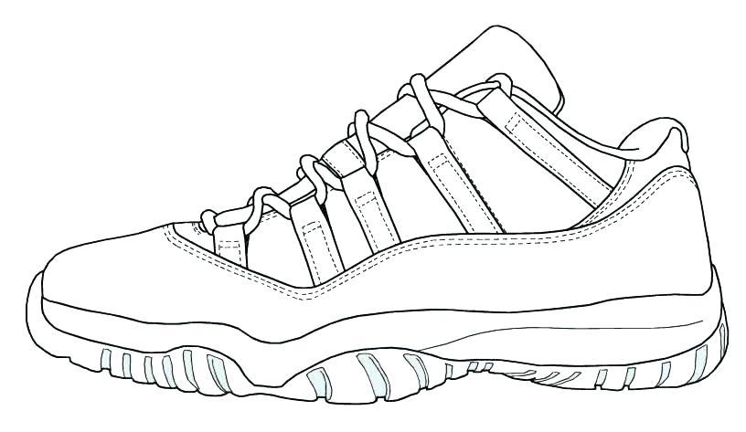 Jordan Shoes Coloring Pages At Getdrawings Free Download
