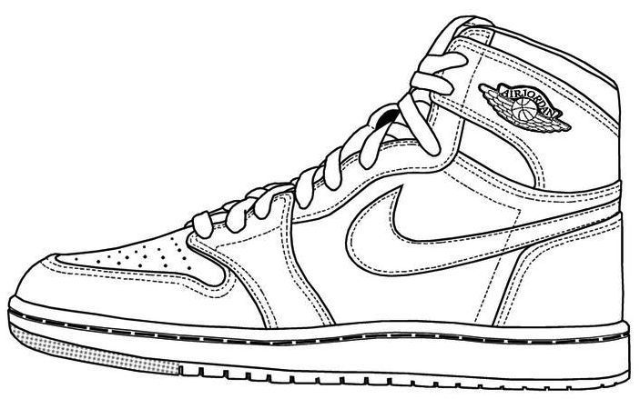 It's just a graphic of Striking Jordan Coloring Page