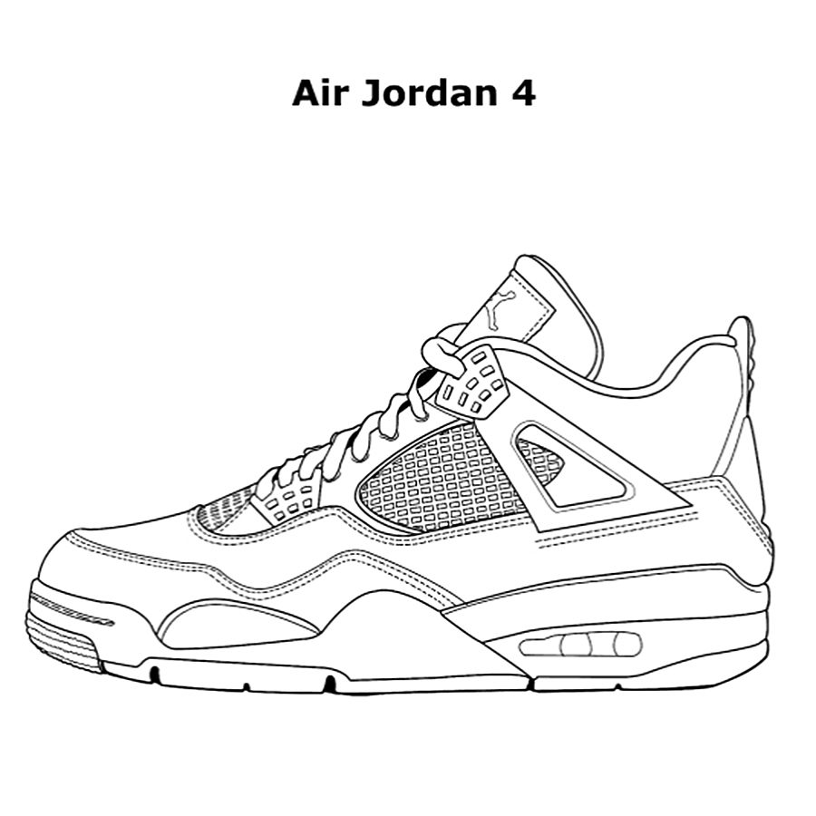 Jordan Sneakers Coloring Pages at GetDrawings | Free download