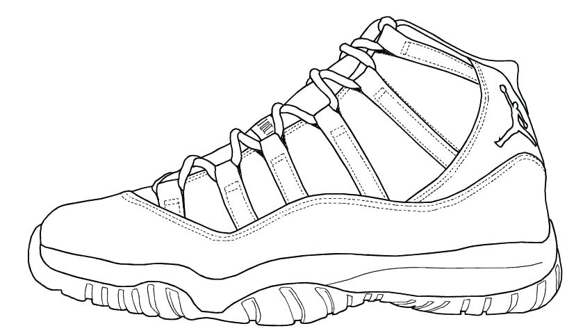 Jordan Sneakers Coloring Pages At GetDrawings Free Download