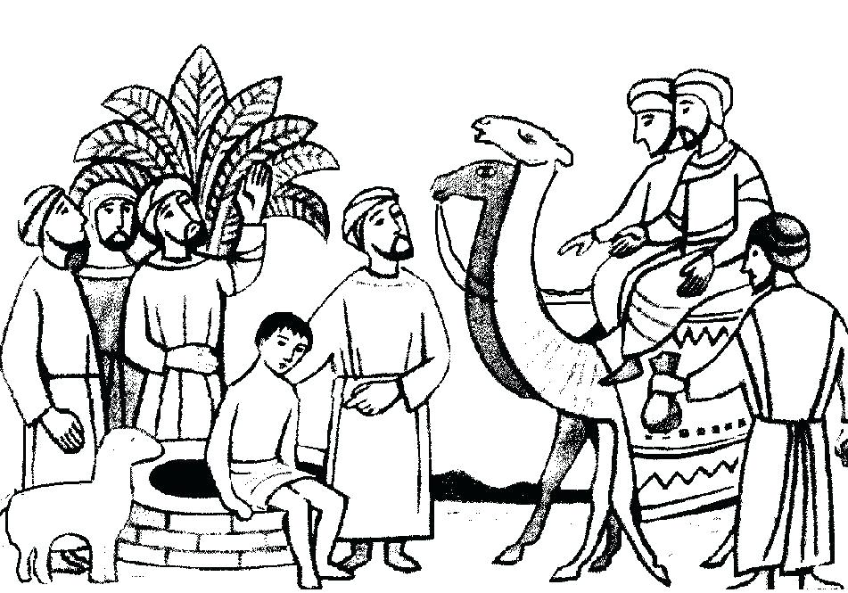 951x665 Coloring Pages Of Joseph And His Brothers Joseph And His Joseph
