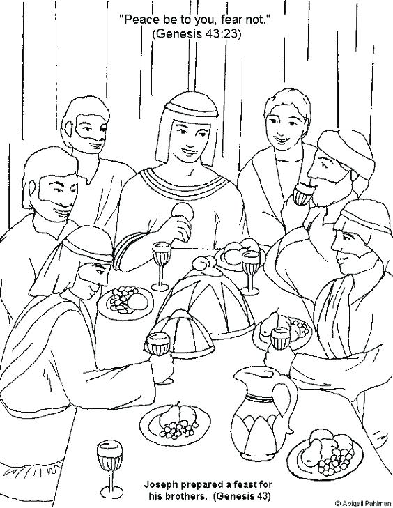 564x729 Joseph Bible Coloring Pages Printable Page Coat Of Colors Story