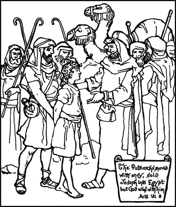 600x708 Joseph Bible Coloring Pages The Slave Page Free Printable
