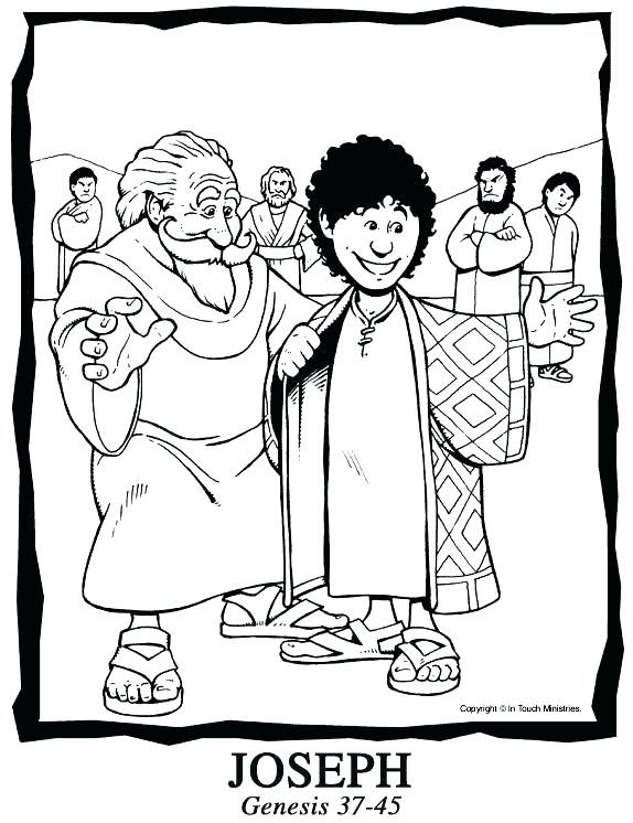 574x746 Joseph Bible Coloring Pages