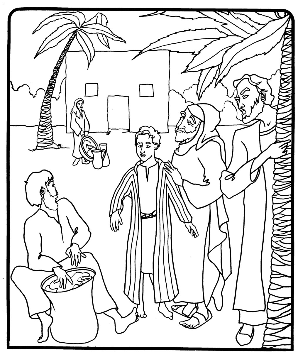 Joseph Bible Coloring Page at GetDrawings | Free download