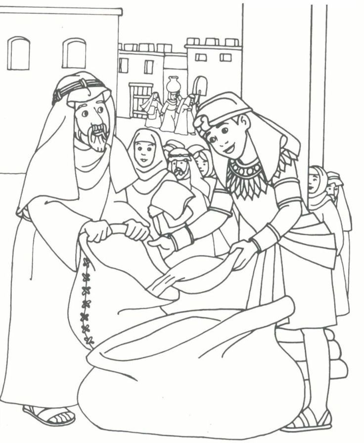 Joseph Bible Story Coloring Pages